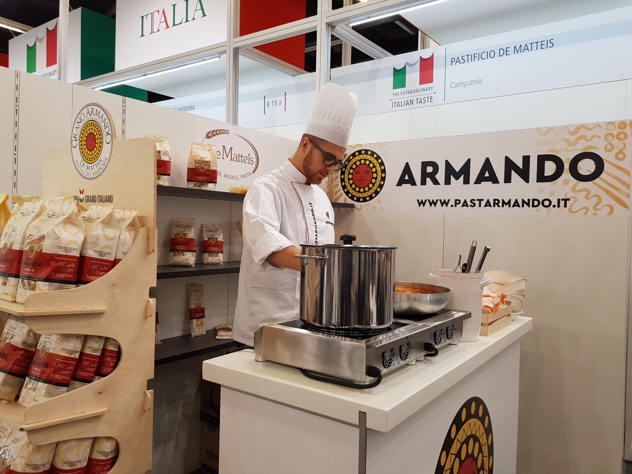 Great success for the pasta manufacturer De Matteis at Anuga exhibition 2017