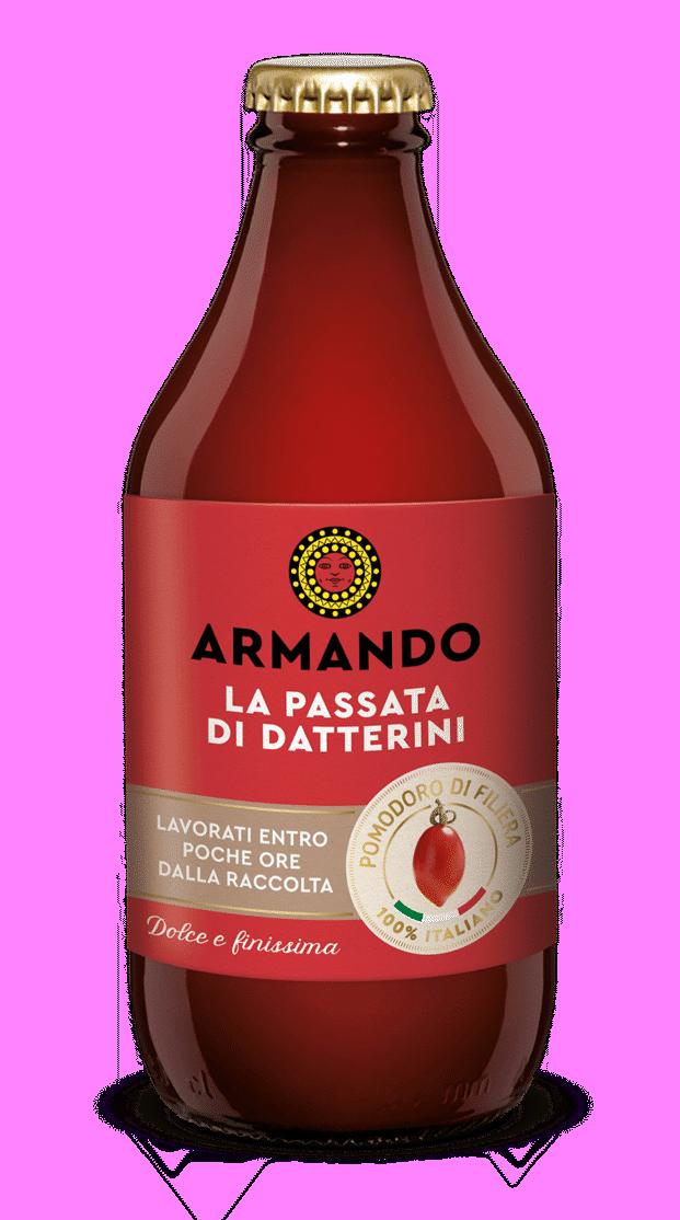 Armando 3 D bottiglia Passata Datterini rossi 330ml