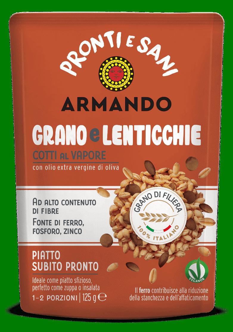 Pronti e sani grano lenticchie