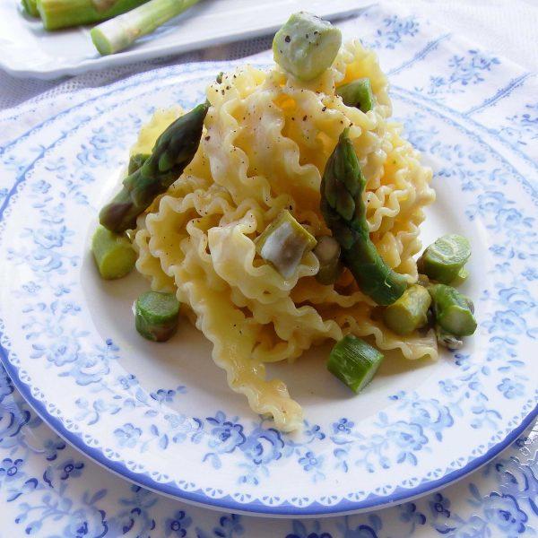 Mafalde in fricassea di asparagi