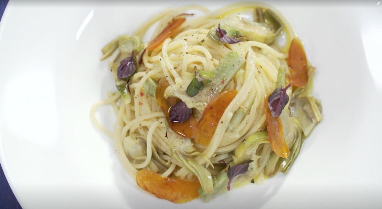 Spaghetti con carciofi