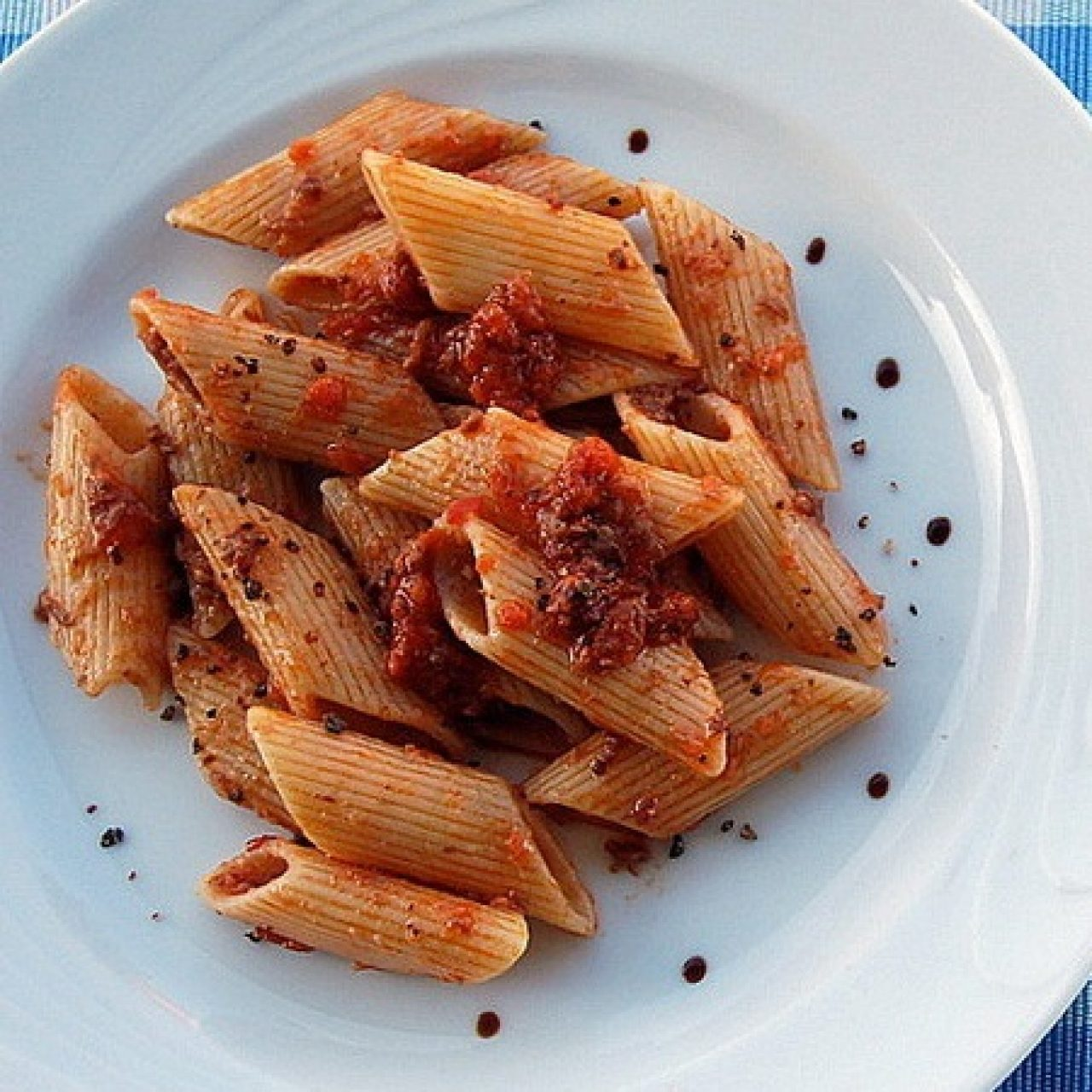 Penne with mixed meat sauce