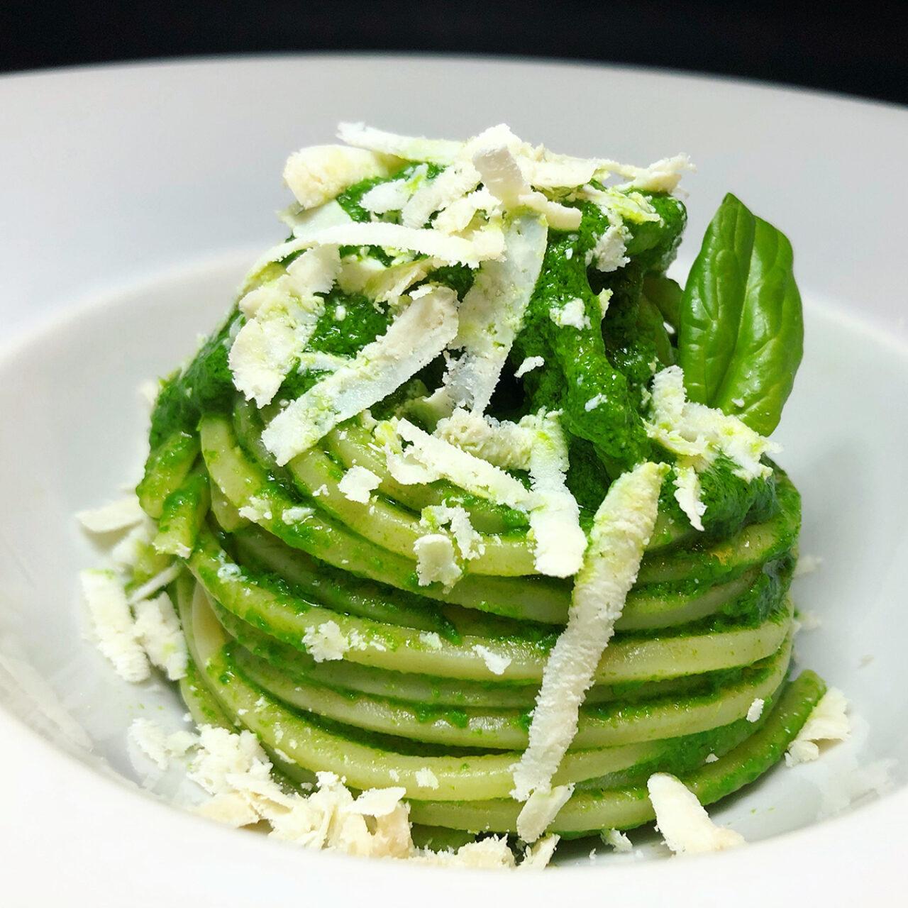 Chitarra Pasta Armando con spinaci e ricotta salata