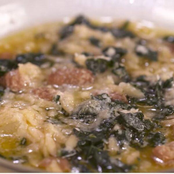 Orzi con minestra frantoiana