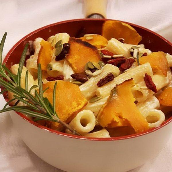 Tortiglioni con zucca e crema di parmigiano