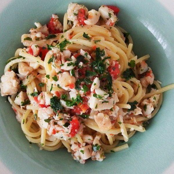 Spaghetti al ragù di pesce di lago
