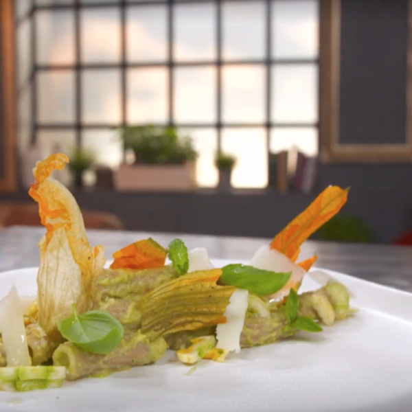 Tortiglioni Integrali Bio con zucchine in fiore